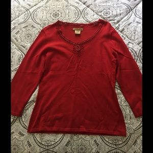 Red Notations Shirt